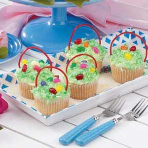 Cupcake Easter Baskets