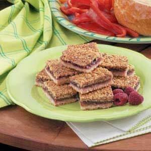 Raspberry-Filled Walnut Shortbread Bars
