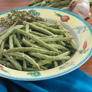 Roasted Ginger Green Beans