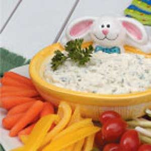 Creamy Parsley Veggie Dip