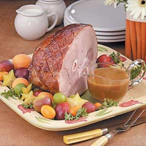 Plum-Glazed Gingered Ham