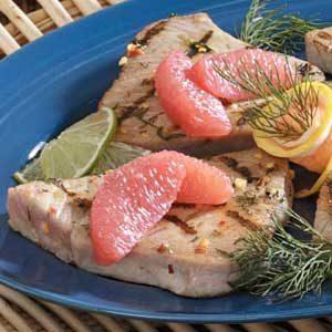 Citrus Tuna Steaks