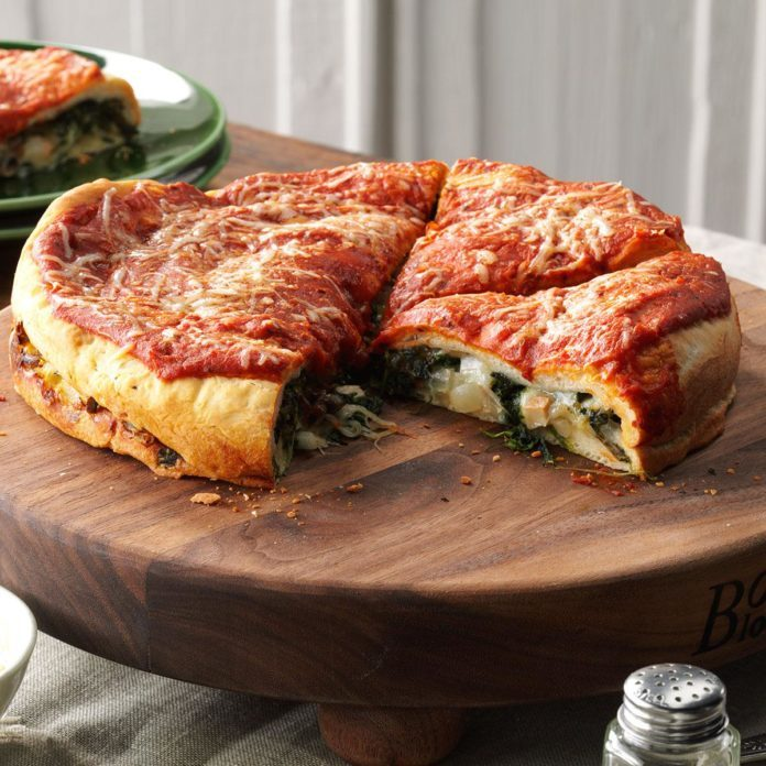 Spinach-Stuffed Pizza
