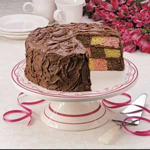 Checkerboard Birthday Cake