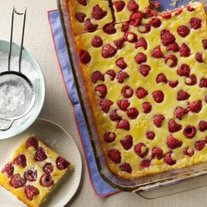 Raspberry Custard Kuchen