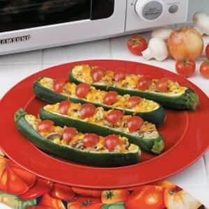 Colorful Zucchini Boats