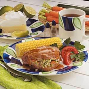 Pilaf-Stuffed Pork Chops