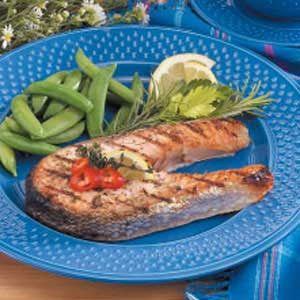 Lemon-Herb Grilled Salmon Steaks