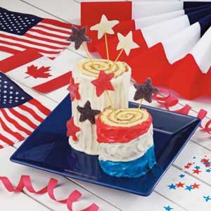 Firecracker Roll-Up Cakes