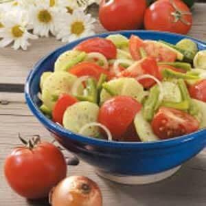 Fresh Garden Vegetable Salad