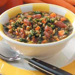 Spinach Lentil Stew