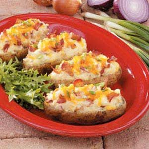 Triple-Onion Baked Potatoes