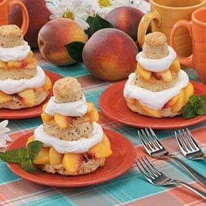 Peach Shortcake Towers