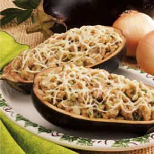 Eggplant with Mushroom Stuffing