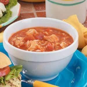 Italian Chicken Rice Soup