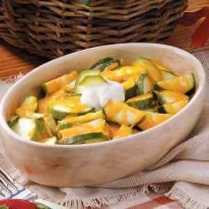 Cheddar Zucchini Slices