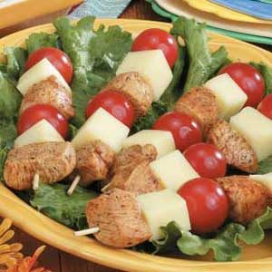 Cold Chicken-Cheese Kabobs