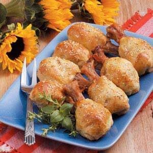 Crescent-Wrapped Drumsticks