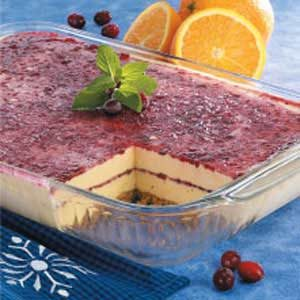 Cran-Orange Ribbon Dessert