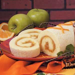 Orange Sponge Cake Roll