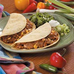 Pork Soft-Shell Tacos
