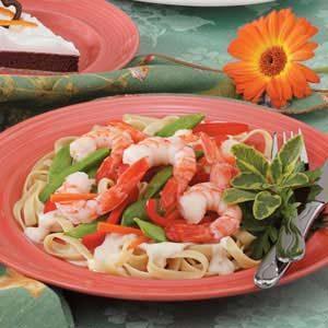 Shrimp 'n' Veggie Alfredo