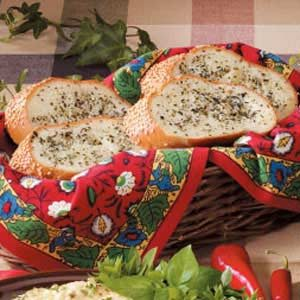 Basil-Buttered French Bread