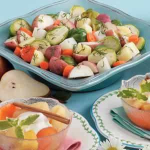 Steamed winter vegetables recipe taste of home steamed winter vegetables forumfinder Choice Image