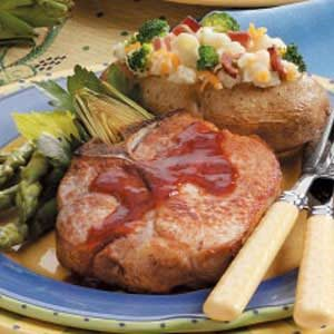 Sweet 'n' Tangy Pork Chops for 2