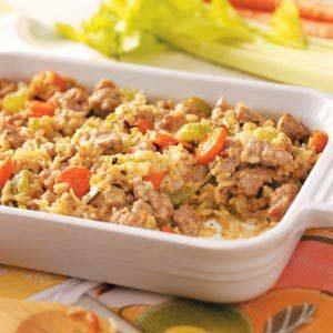 Rice Sausage Casserole