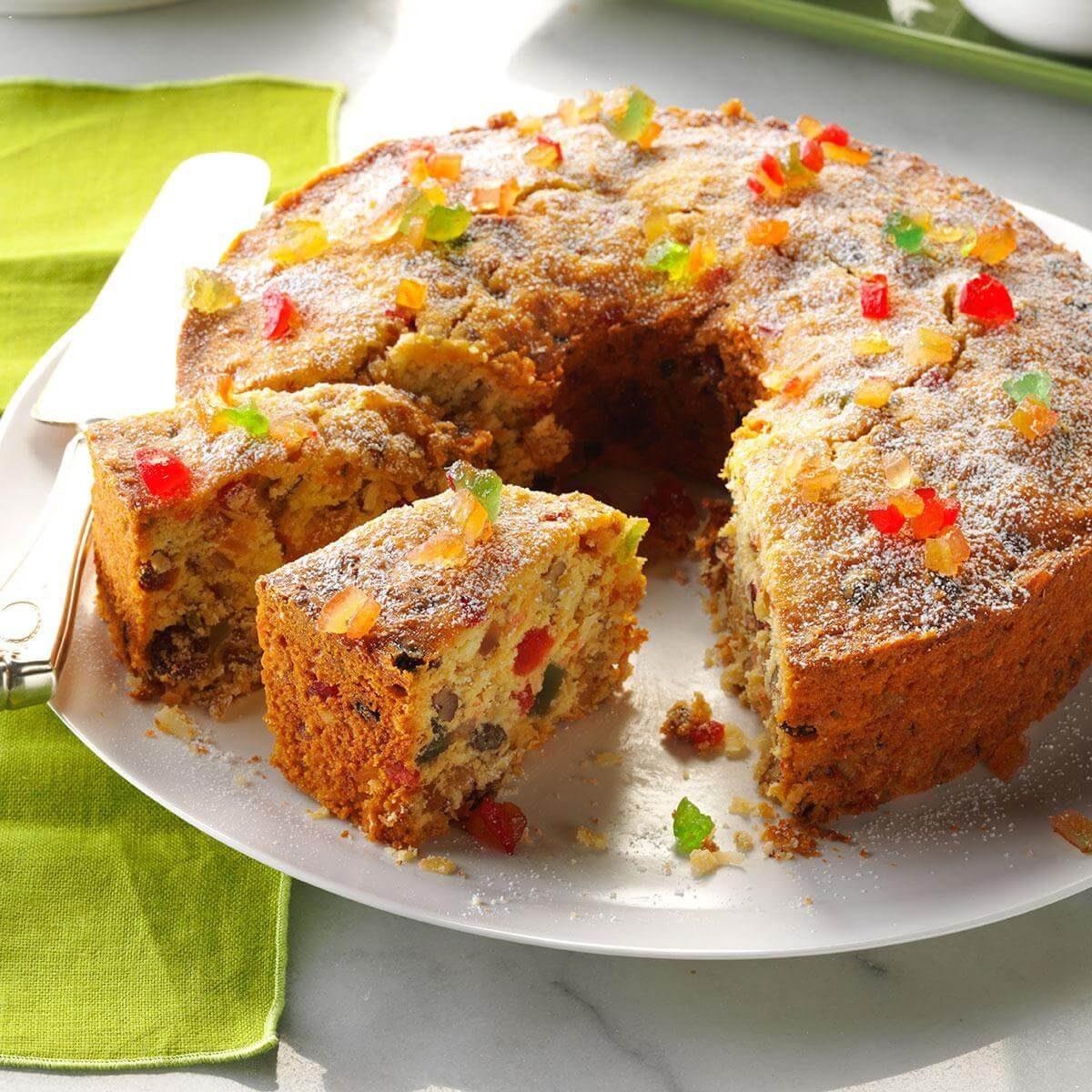 Cakes With Fruit Recipes: Coconut Fruitcake Recipe
