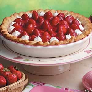 Fresh Strawberry Pie with Whipped Cream