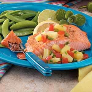 Salmon with Ginger Pineapple Salsa