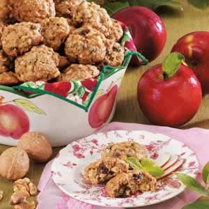 Walnut Raisin Apple Cookies