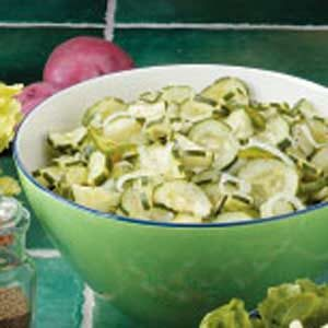 Onion Cucumber Salad with Vinegar Dressing