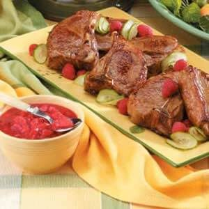 Lamb with Raspberry Sauce