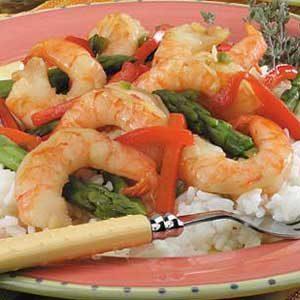 Lime Shrimp with Asparagus