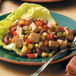 Southwest Pork and Bean Salad