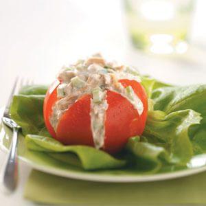 Tuna Salad in Tomato Cups