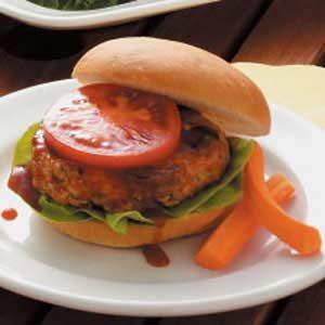 Barbecued Mushroom-Turkey Burgers