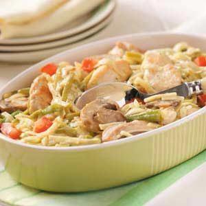 Parmesan Chicken Pasta Skillet