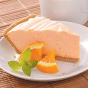 Velvety Orange Gelatin Pie