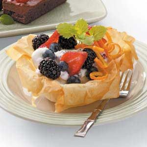 Berry-Filled Phyllo Flowers