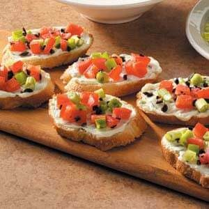 Basil Cream Cheese Bruschetta