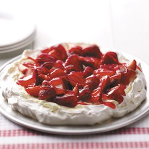 Strawberry Meringue Tart