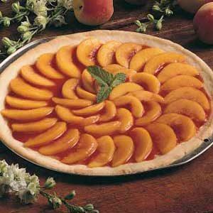 Peach Pizza Pie