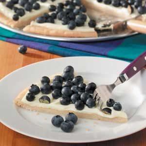 Lemon Blueberry Pizza