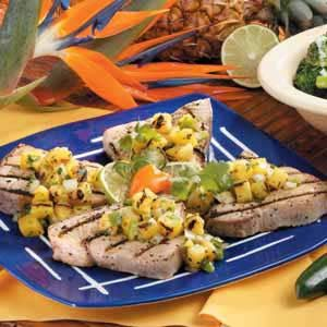 Grilled Tuna with Pineapple Salsa