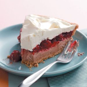 Whipped Chocolate and Cherry Pie