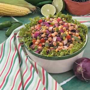 Quick Colorful Bean Salad